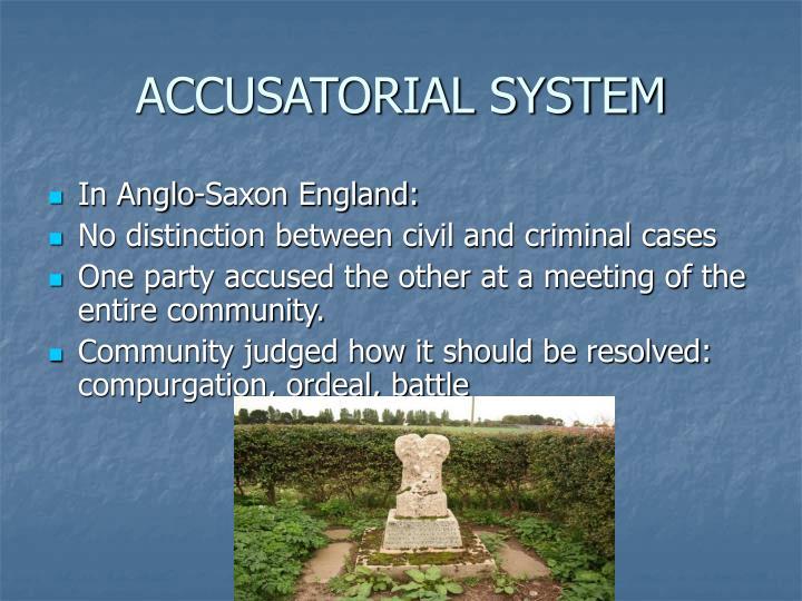 Accusatorial system