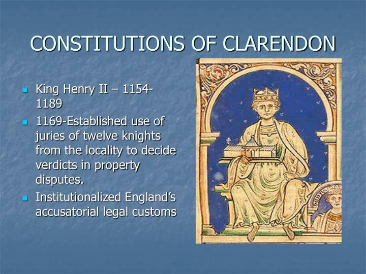 CONSTITUTIONS OF CLARENDON