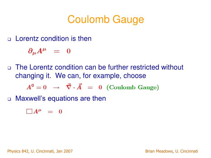 Coulomb Gauge