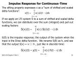 impulse response for continuous time