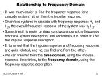 relationship to frequency domain