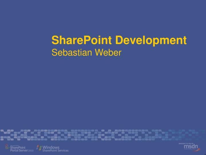 sharepoint development sebastian weber n.