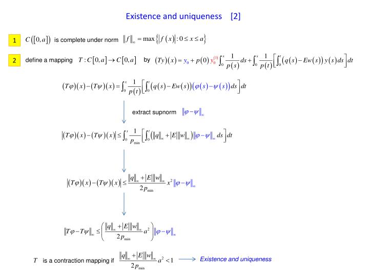 Existence and uniqueness    [2]