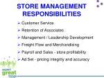 store management responsibilities