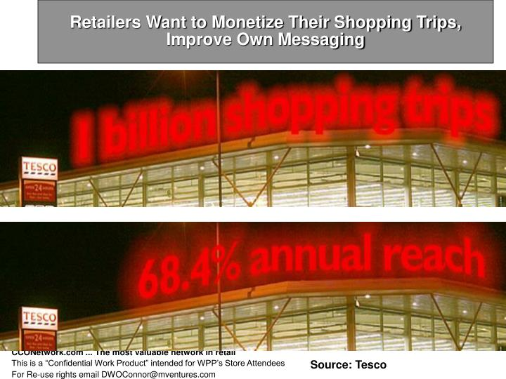 Retailers Want to Monetize Their Shopping Trips, Improve Own Messaging