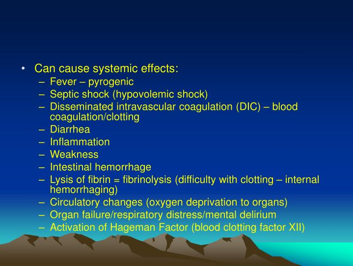 Can cause systemic effects: