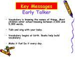early talker