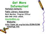 get more information1