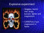 explosive experiment