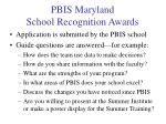 pbis maryland school recognition awards