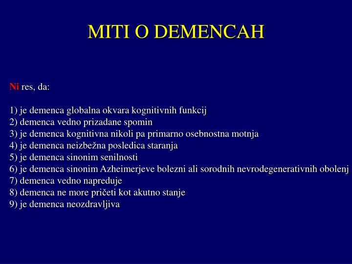 MITI O DEMENCAH