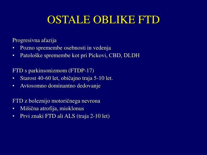 OSTALE OBLIKE FTD
