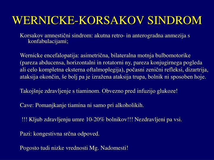 WERNICKE-KORSAKOV SINDROM