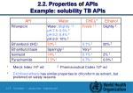 2 2 properties of apis example solubility tb apis