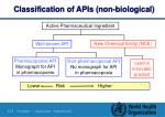 classification of apis non biological