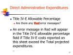 direct administrative expenditures5
