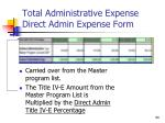 total administrative expense direct admin expense form