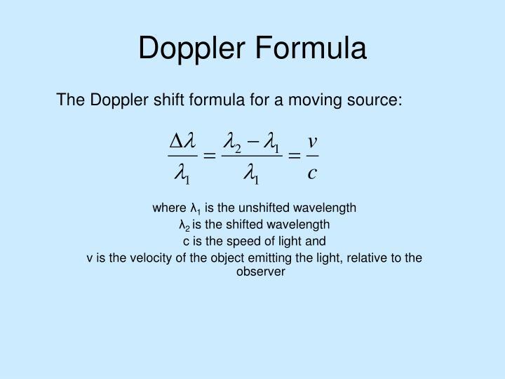 Doppler Formula