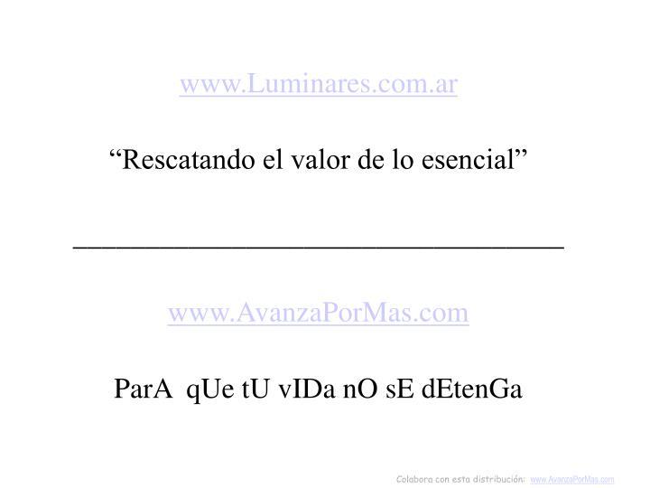 www.Luminares.com.ar