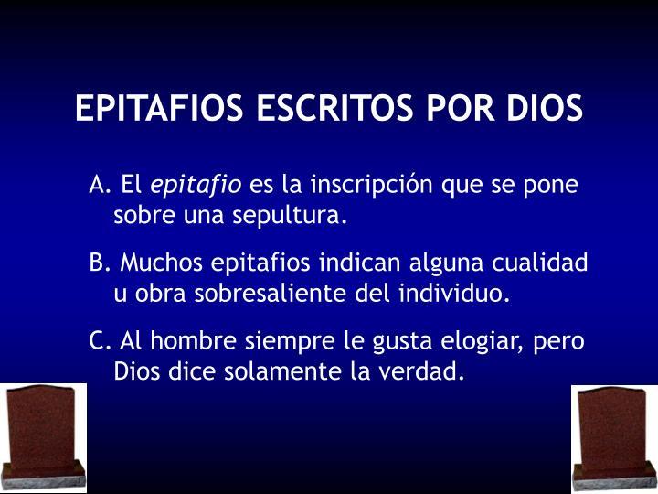 epitafios escritos por dios n.