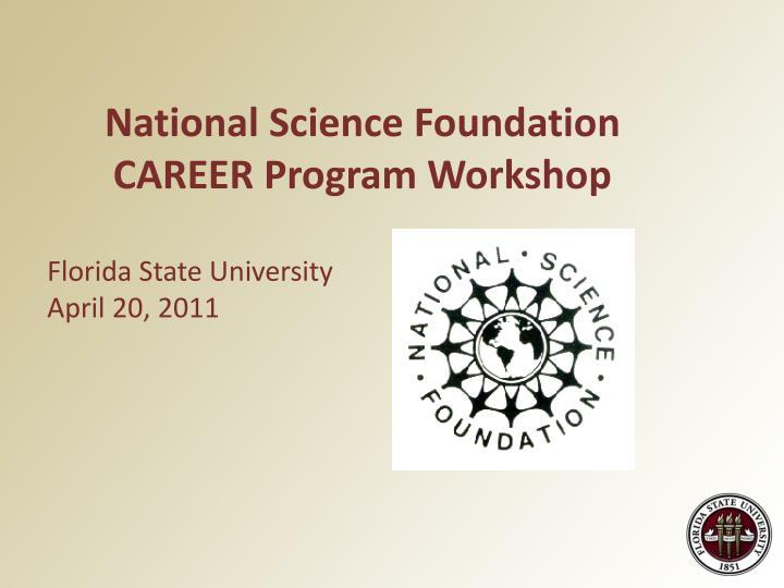 National Science Foundation CAREER Program Workshop