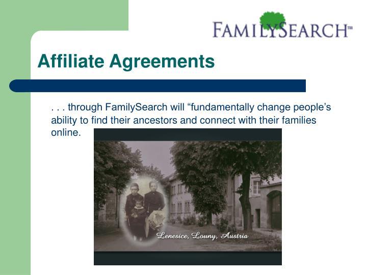 Affiliate Agreements