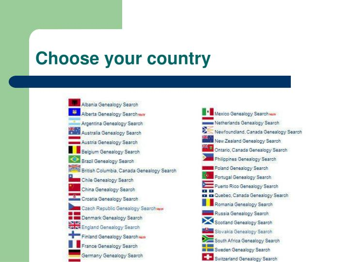 Choose your country