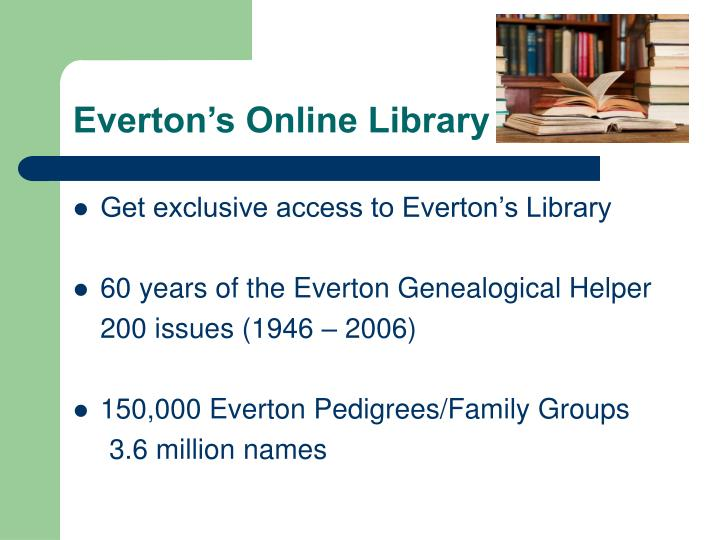 Everton's Online Library