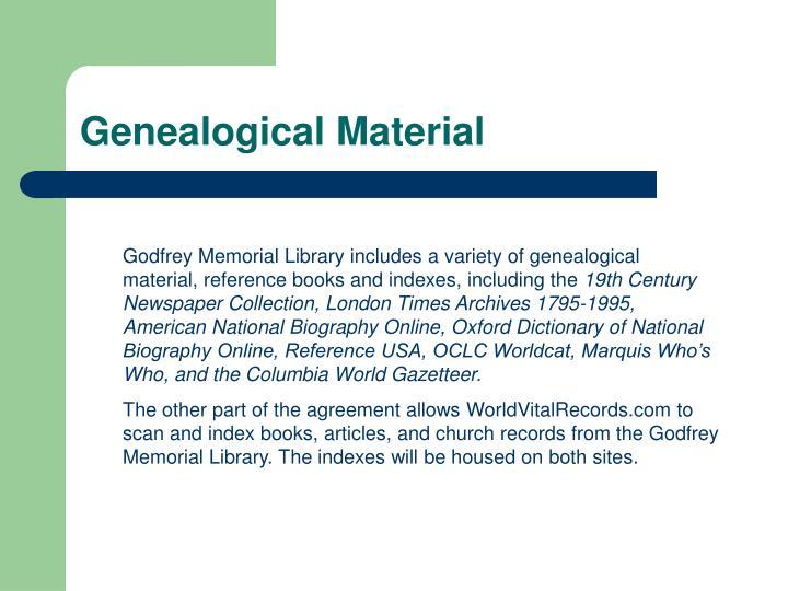 Genealogical Material