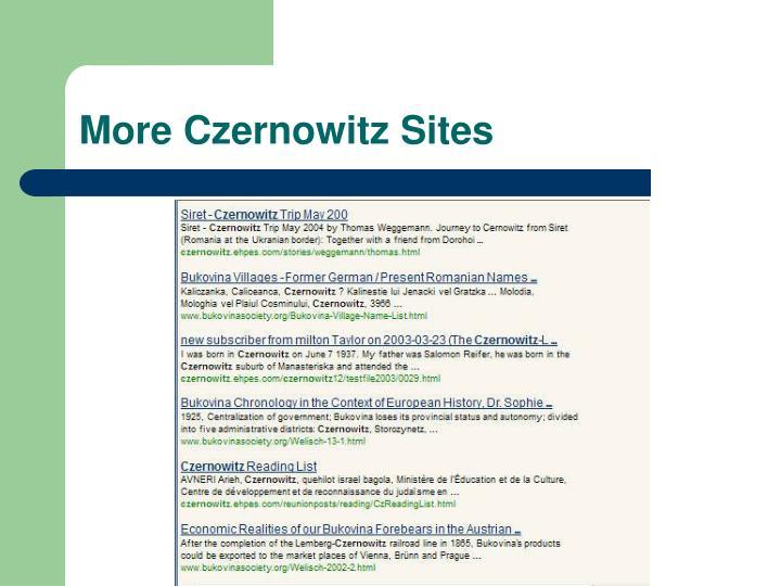 More Czernowitz Sites