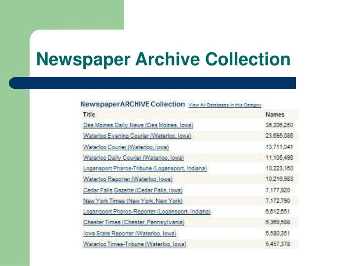 Newspaper Archive Collection