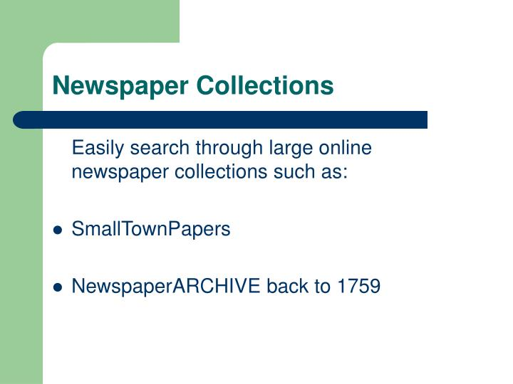 Newspaper Collections