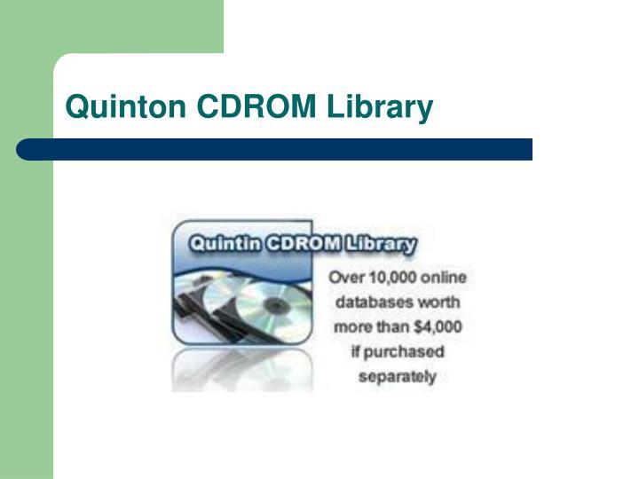 Quinton CDROM Library