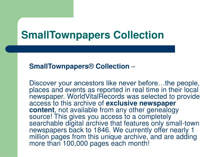 SmallTownpapers Collection