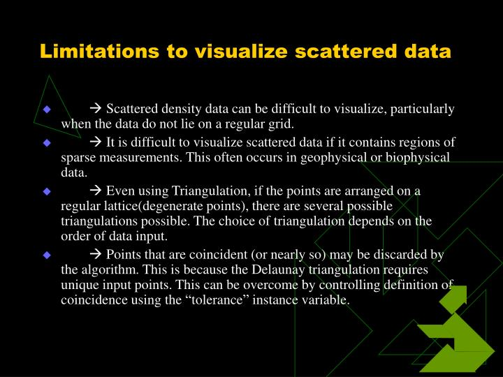 Limitations to visualize scattered data