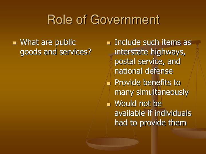 What are public goods and services?