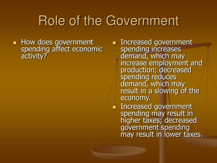 How does government spending affect economic activity?