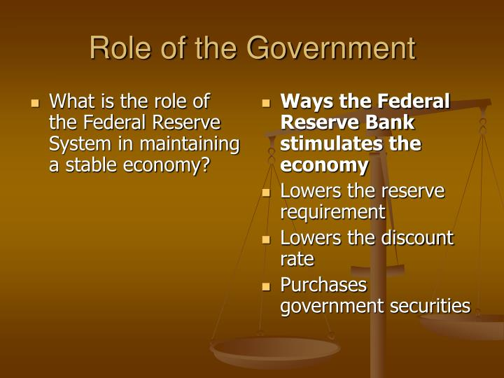 What is the role of the Federal Reserve System in maintaining a stable economy?
