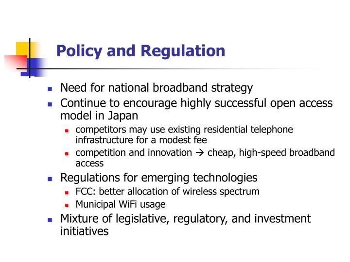 Policy and Regulation