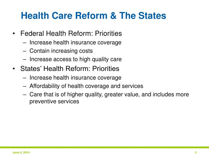 Health care reform the states