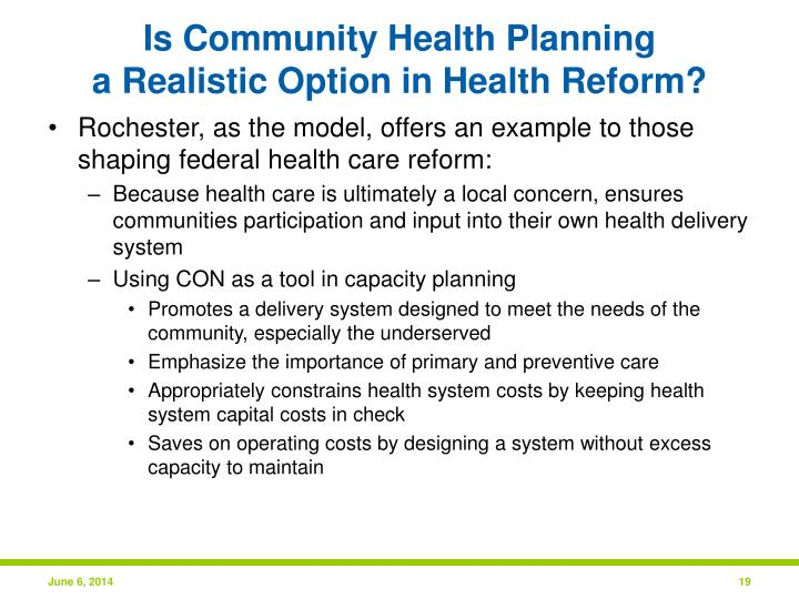 Is Community Health Planning