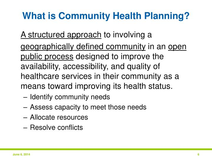 What is Community Health Planning?