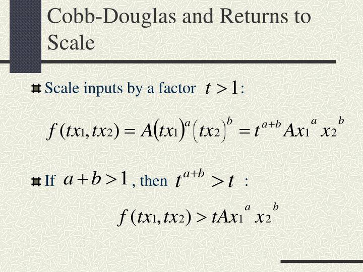 Cobb-Douglas and Returns to Scale