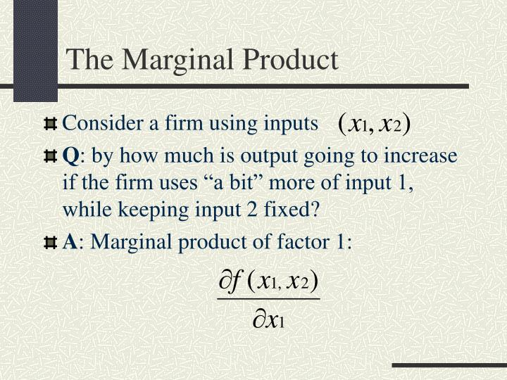 The Marginal Product