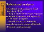 sedation and analgesia1