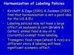 harmonization of labeling policies