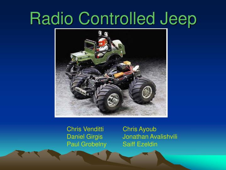 Radio controlled jeep