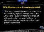 eva electrostatic charging cont d