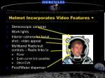 helmet incorporates video features