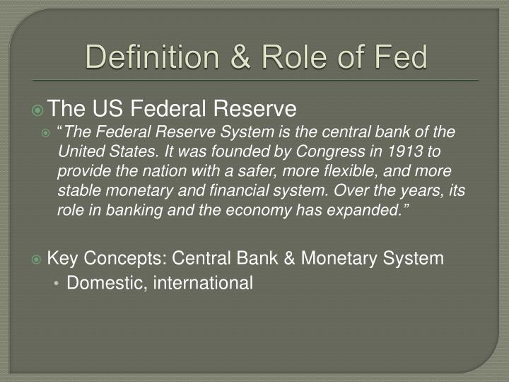 Definition role of fed